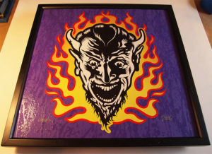 Jim Blanchard - Flame Devil Acrylic On Panel, 21x21 in. $450