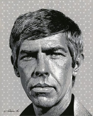 Jim Blanchard - James Coburn Acrylic on Bristol, 11x13 in. $1,400