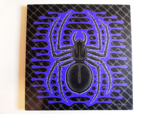 Jim Blanchard - Kozmic Spyder Acrylic on Stretched Canvas, 20x20 in. $800