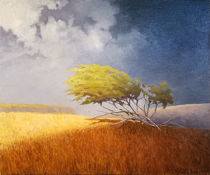 Sonny King - Field of Dreams, Diptych (right) Oil on canvas, 24.125x20.125 in. $3,000 for diptych