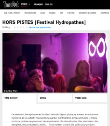 Time out - Festival Hydropathes