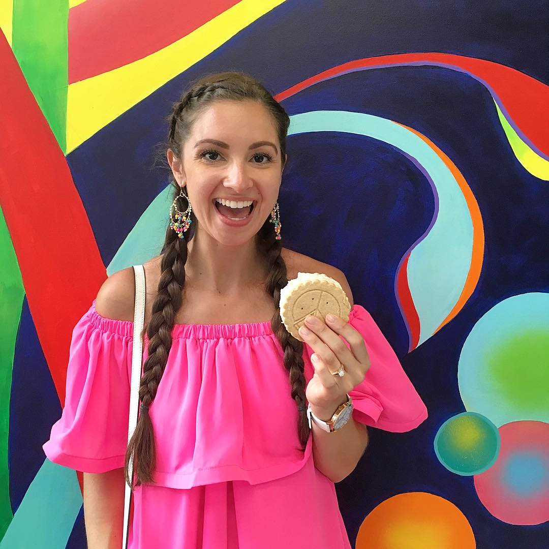 Cooling off in downtown charleston with an icecreampiecookie sandwich! Canhellip