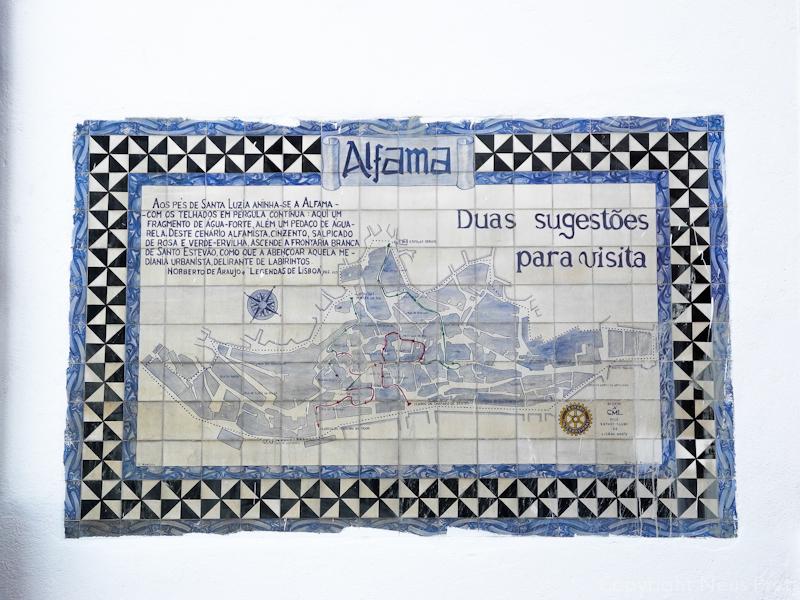 Azulejo en el barrio de la Alfama.