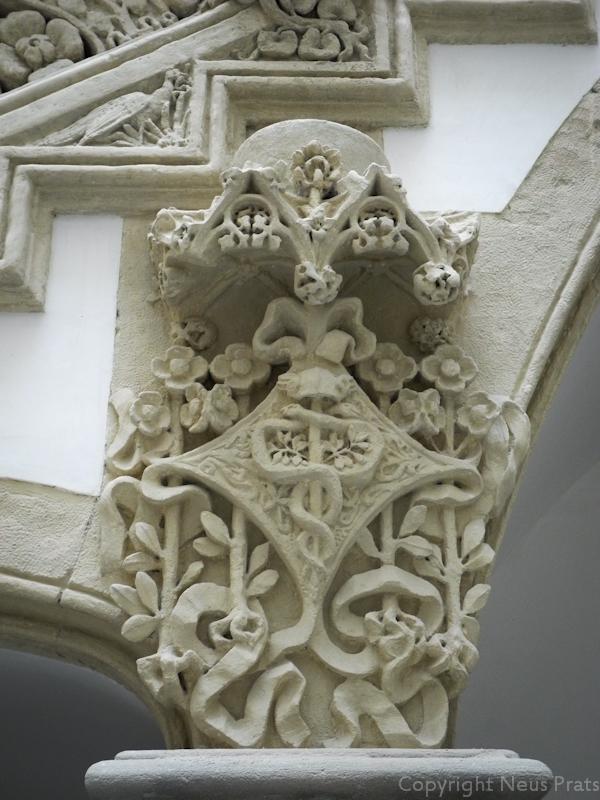 Representación del dios Hermes. Pati de la Casa Macaya.