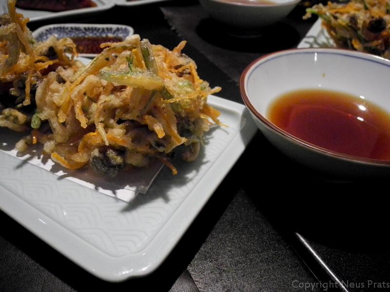 Tempura Kakiage de bolets japonesos i verdures