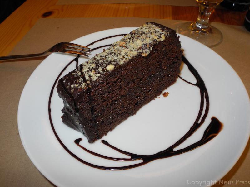 Bizcocho de chocolate.