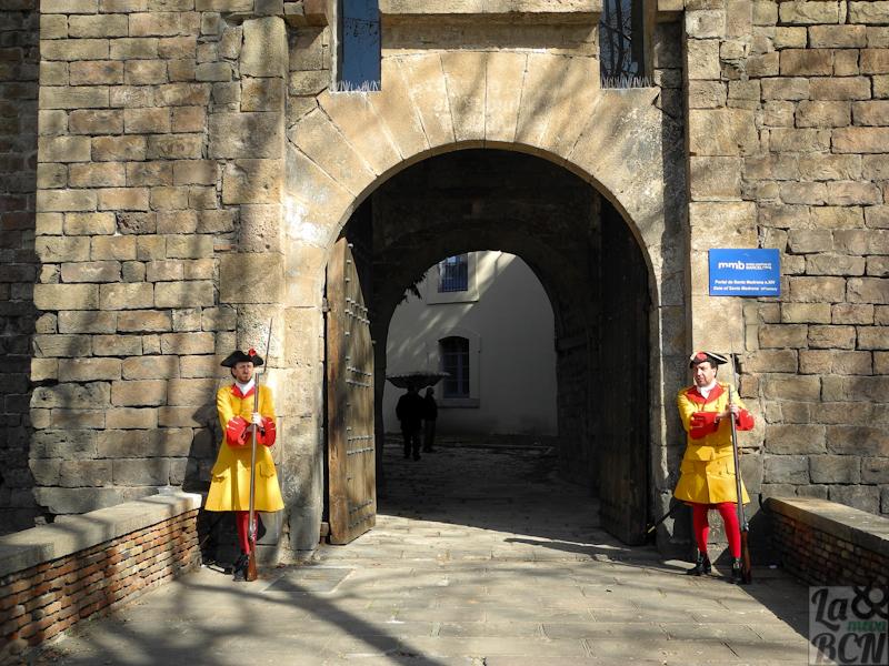 El Portal de Santa Madrona, els Jardins del Baluard i La Coronela.