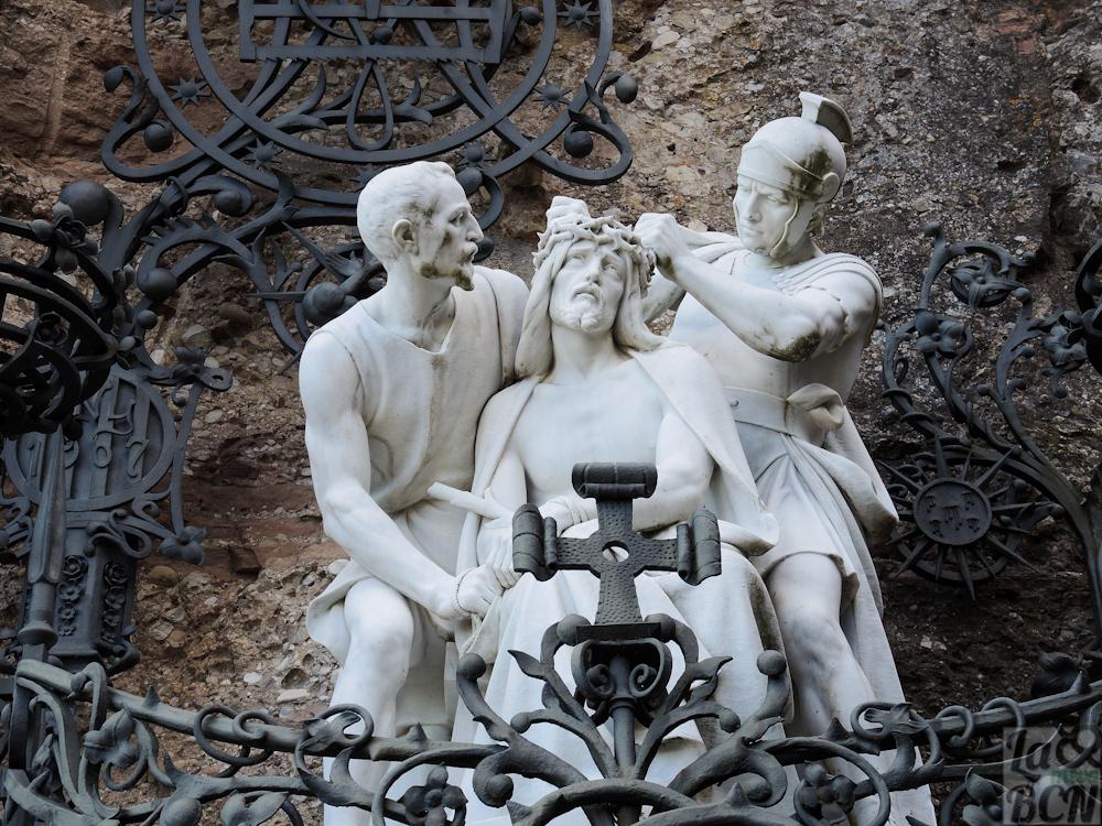 Jesús coronado de espinas. Escultor, Anselm Nogués