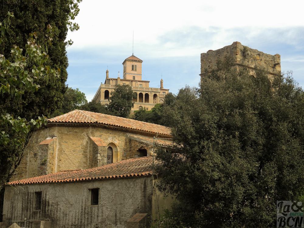 Vista de Santa Maria de Vallvidrera y Vil.la Joana en la parte alta