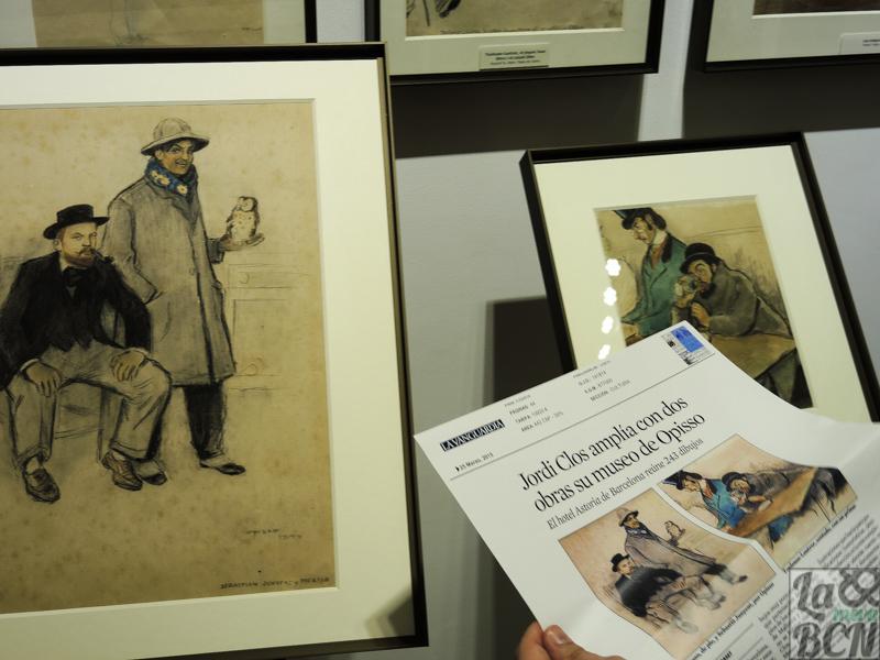 Els dibuixos de Ricard Opisso, exposats a l'Hotel Astoria.