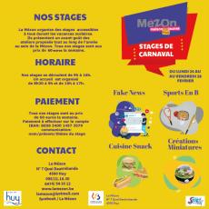 Stages de carnaval 2020