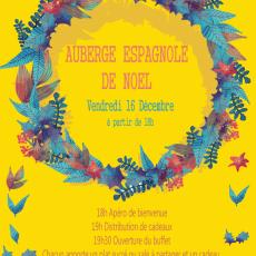 Auberge Espagnole de NOËL Vendredi 16 Décembre