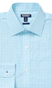 gingham dress shirt semi-spread