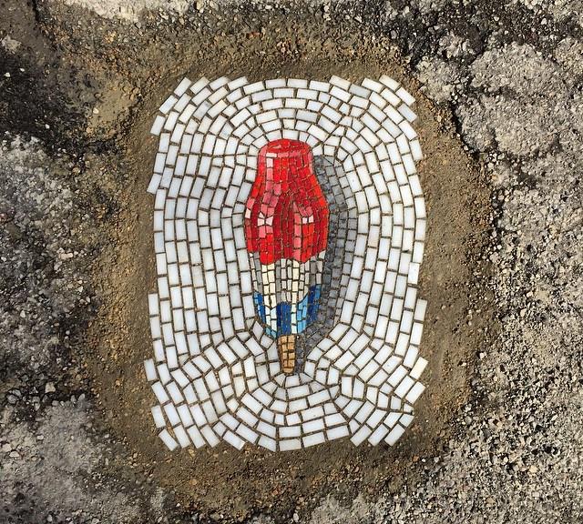 mosaics fix pot holes culture care