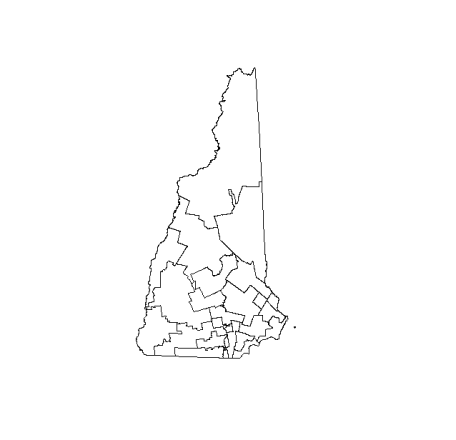 New Hampshire State Boundary and Senate District