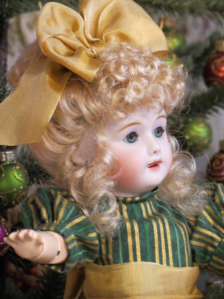 SFBJ 301 Bleuette Wearing Margie Wig in Light Peach Blonde