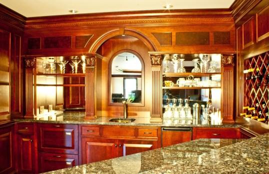 basement renovation with custom cherry paneling lantz custom