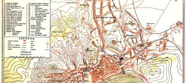 Harta Brasov 1922