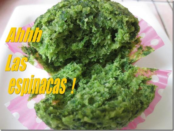 cupcakes de espinacas