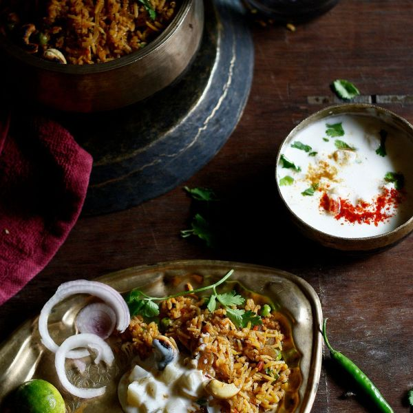 Vegetable biriyani is everything you need to turn a Meatless dinner into something special. .