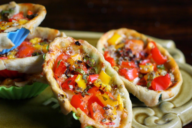 tomato and pepper tartlet