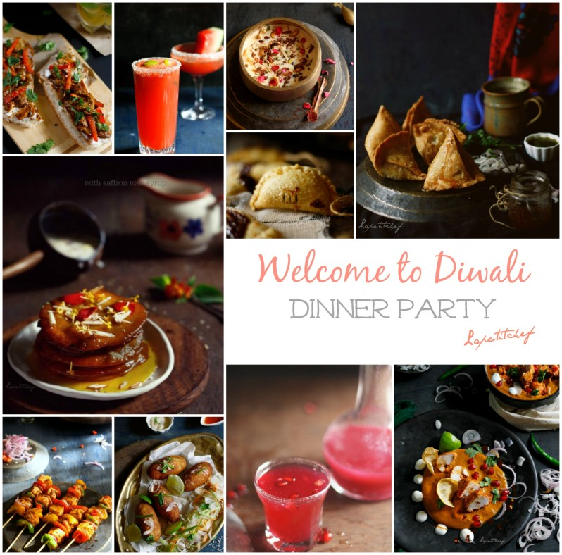 Host the ULTIMATE Diwali party with this perfect menu,curated by Lapetitchef including appetizers, cocktails & desserts!!