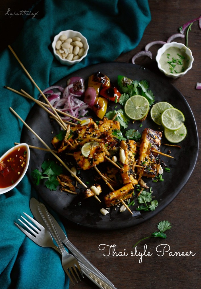 """Thai style paneer is an intriguing dish that takes a healthier and more flavorful twist to everyone's favorite good old """"paneer chilli""""."""