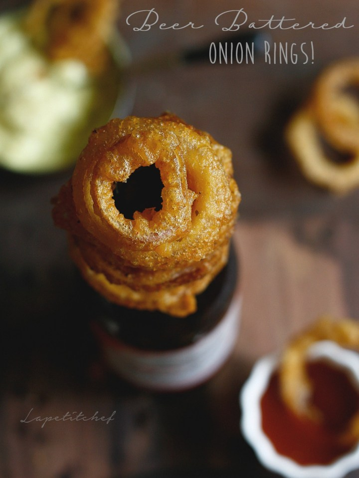 Beer batter onion rings are the easiest snack ever, and of course they are delicious! This perfect game day snack is light, crunchy and so more-ish that you really cant stop soon.