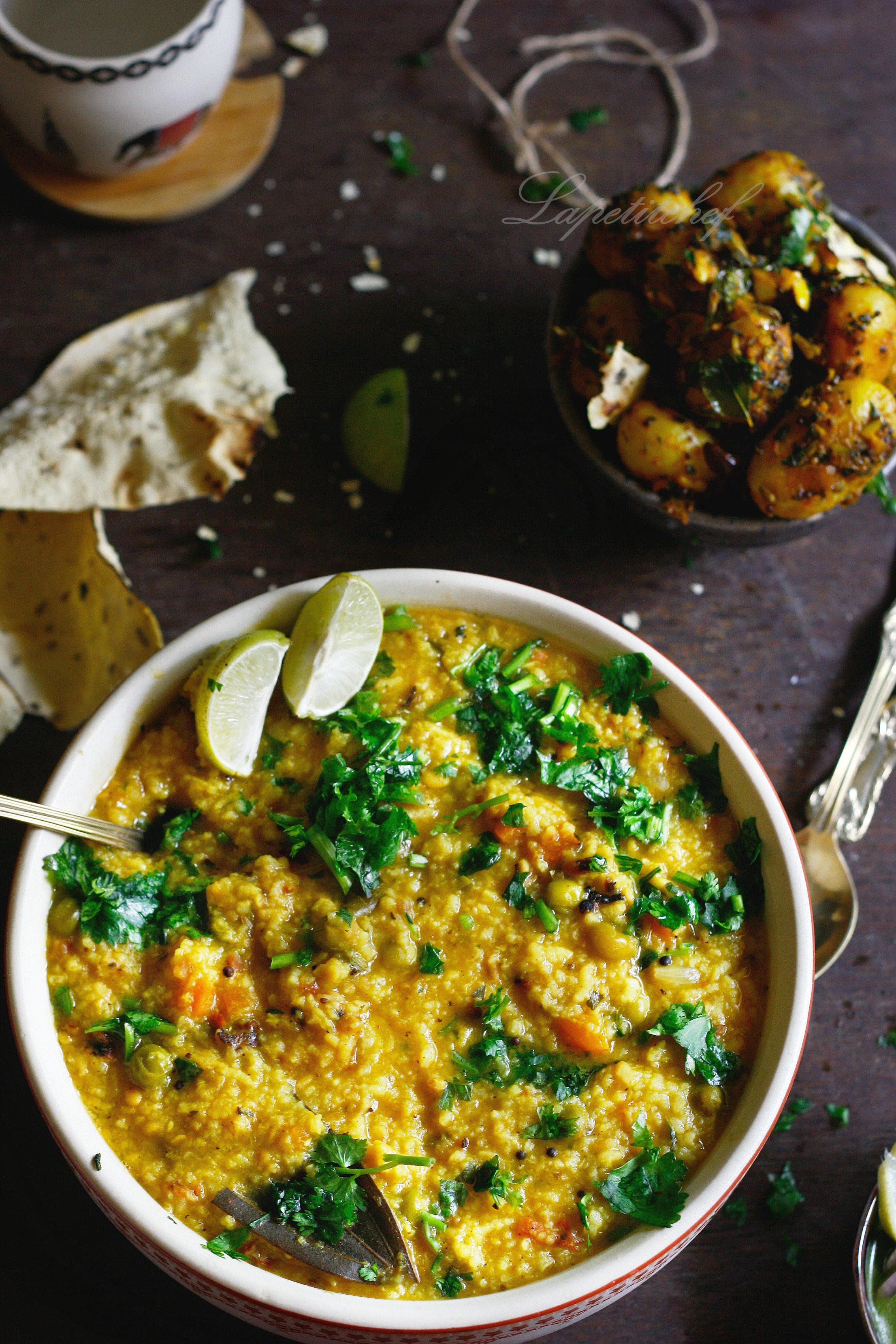 Khichdi or one pot rice and lentil stew