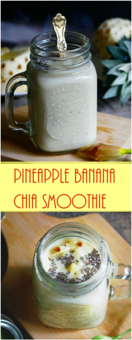 pineapple banana chia smoothie