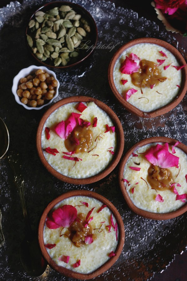 butterscotch rice pudding or phirni