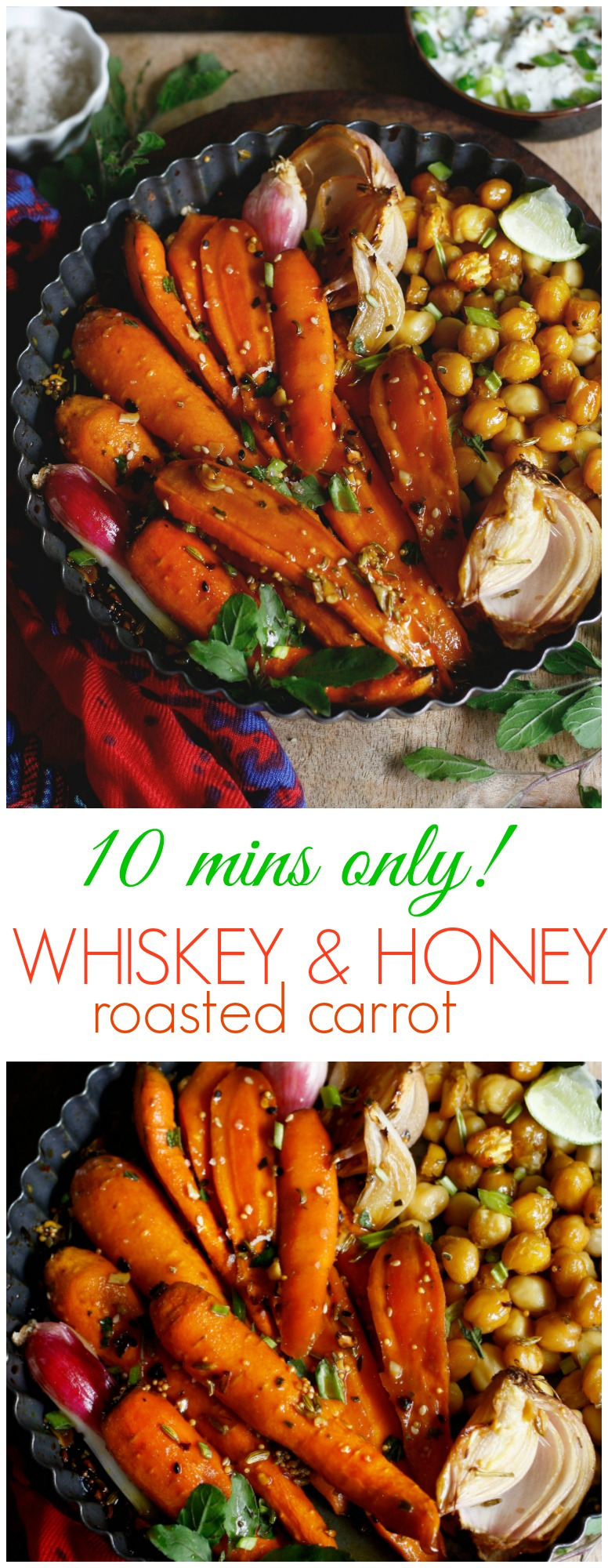 whiskey and honey roasted carrot