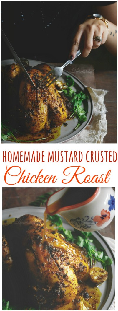 mustard crusted chicken roast