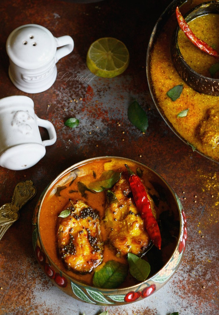 fish curry in light mustard sauce
