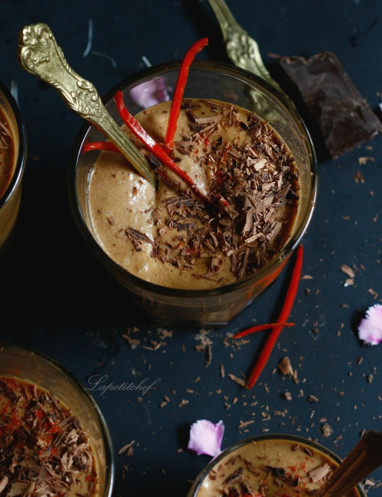 French chocolate chilli mousse