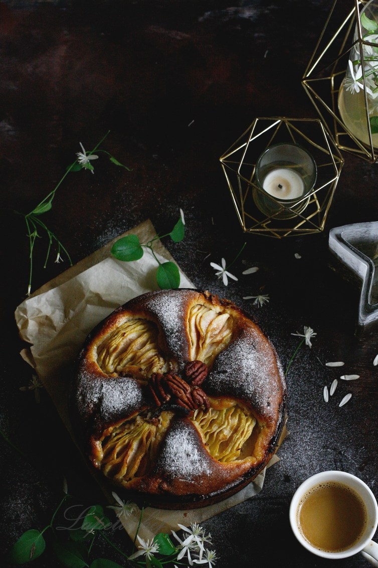 Pear and ginger spiced cake