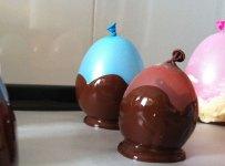 Cuencos de chocolate