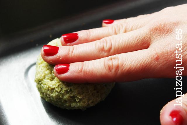 chafar las bolas de quinoa