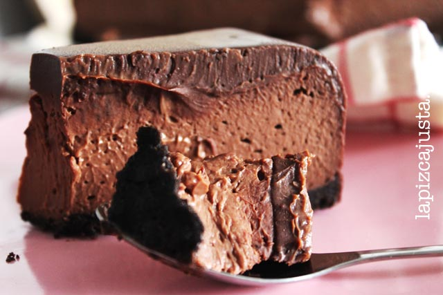 Cheesecake De Chocolate Con Ganache