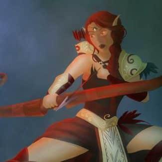 Diseñando un personaje de Warcraft: Arquera elfa