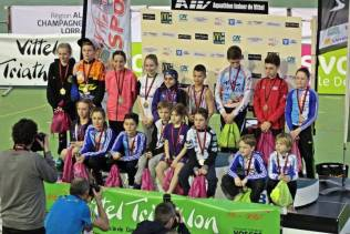 Podium des jeunes athlètes