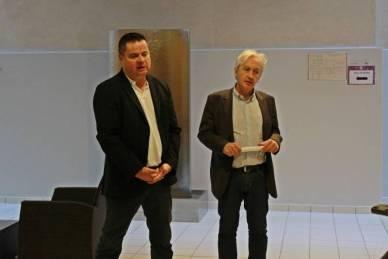 Régis Saladin des Laboratoires Phytodia et Benoît Jourdain du Conseil départemental