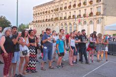 Le public était peu nombreux au début du concert.
