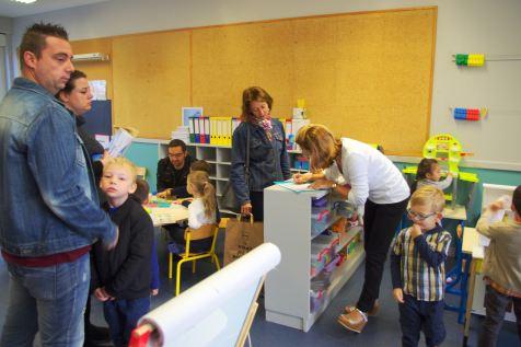 Parents et enfants ont découvert les classes et fat connaissance avec les enseignantes.