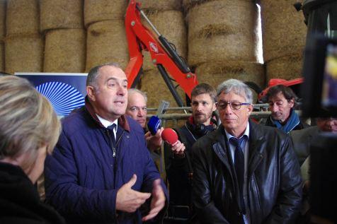 Le ministre de l'agriculture, Didier Guillaume, a répondu aux questions des agriculteurs.