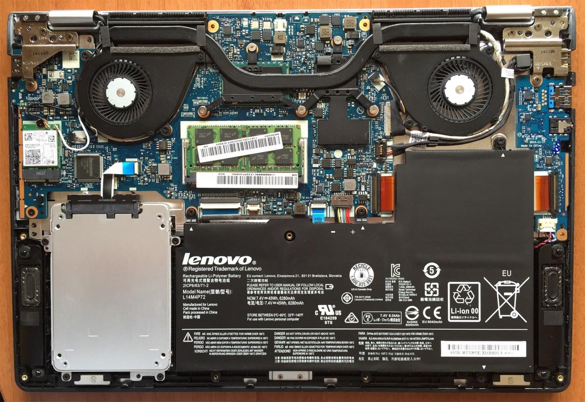 Inside Lenovo Yoga 3 14 Inch Disassembly Internal