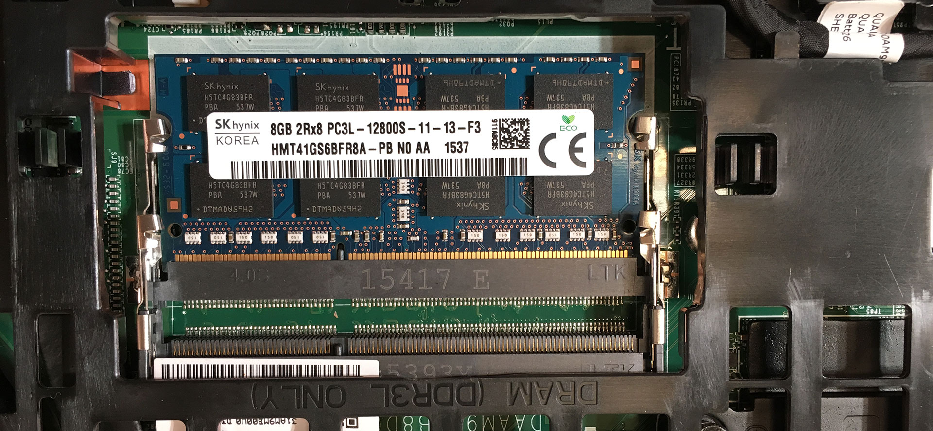 One slot of ram not working