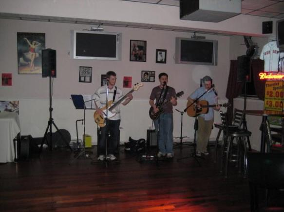 Jeff, Jim, and Chris performing!