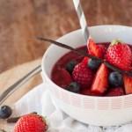 gaspacho de fruits rouge