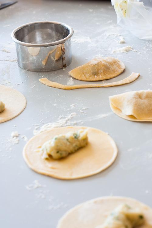 Ravioles au Poulet & Crème de Craquerelles